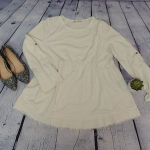 Alter'd State cream long sleeve Tunic, Size Large